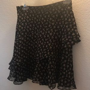Bebe A-Line Ruffle skirt, New with tags